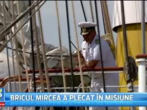 Moment emotionant in portul militar Constanta. Bricul Mircea, cu peste 150 de marinari la bord, a plecat intr-o noua misiune