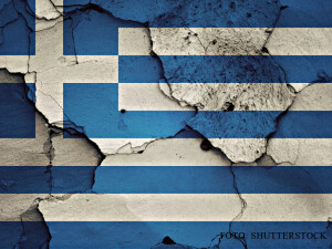 GREXIT zid scorojit cu steagul Greciei