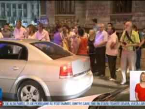 Accident in centrul Capitalei. Copil de 11 ani lovit de o masina in intersectia de la Piata Universitati