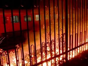 incendiu calea ferata