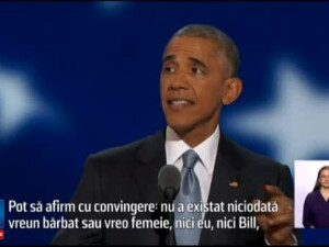 Barack Obama, pledoarie inflacarata pentru Hillary Clinton: Nici eu, nici Bill, nimeni nu e mai pregatit decat ea