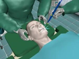 Animatie Grafica medic electrocutat