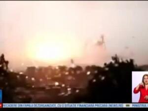 Furtuna puternica la Istanbul. O macara si zeci de ziduri vechi puse la pamant; 10 persoane au fost ranite