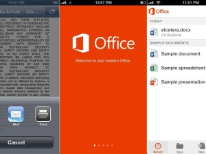 microsoft office pe iphone