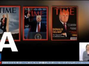 Publicatia Time ii cere lui Trump sa inlature de pe peretii a cinci cluburi de golf coperta falsa in care apare acesta