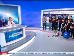 Castigatorii pe licee ai competitiei de robotica au venit in studio pentru a reedita finala