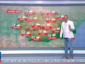 Joi, temperaturile scad, iar in Capitala se anunta averse pe seara. Sambata si duminica, vremea va fi mai calda