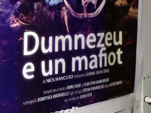 Poster piesa de teatru Dumnezeu e un mafiot