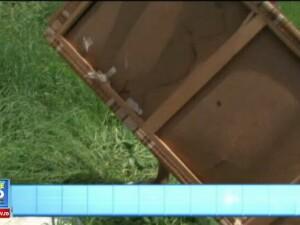 Copilul din Hunedoara care a fost lovit de o canapea aruncata de la etaj are 2 vertebre fisurate. A intrat practic prin el