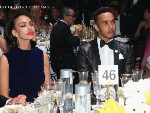 Madalina Ghenea la masa cu Lewis Hamilton