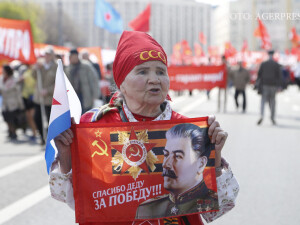 comunisti la parada de 1 Mai din Moscova