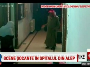 Momentul in care un spital de copii din Siria e bombardat de fortele guvernamentale. Assad nu renunta la orasul Alep