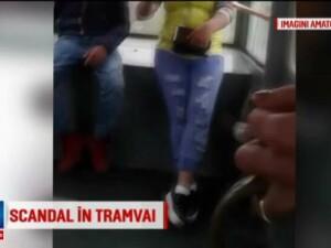 Scene violente surprinse in tramvaiul 41, din Capitala. Ce s-a intamplat pentru ca doi tineri ascultau manele prea tare