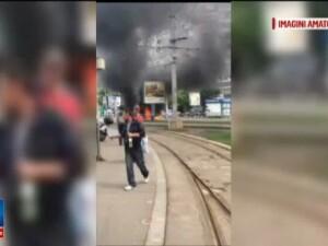 Un taximetrist din Capitala si-a dat foc la masina cand a primit procesul verbal de la politisti. Cu cat a fost amendat