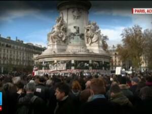 Minutul de tacere al Europei. Victimele atacurilor din Paris, comemorate in toate tarile Uniunii
