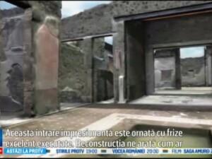 O vila din Pompei, distrusa de eruptia vulcanului Vezuviu, reconstruita virtual in 3D. Cum arata
