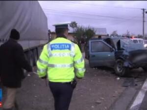 Accident mortal in Targoviste, provocat de un TIR care a ajuns pe contrasens intr-o curba