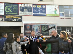 Klaus Iohannis la Colectiv