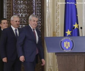 Sorin Grindeanu, Liviu Dragnea, Calin Popescu Tariceanu