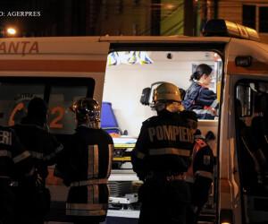 pompieri si ambulante in Timisoara, noaptea FOTO AGERPRES