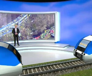 Animatie accident tren Germania