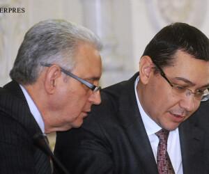 Ilie Sarbu, liderul senatorilor PSD, si premierul Victor Ponta, presedintele PSD FOTO AGERPRES