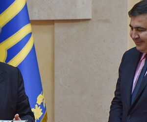 Saakasvili, Porosenko