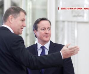 Premierul britanic David Cameron se intalneste cu presedintele Romaniei Klaus Iohannis la Palatul Cotroceni, in Bucuresti, miercuri, 9 decembrie 2015