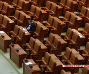 scaune goale in parlament