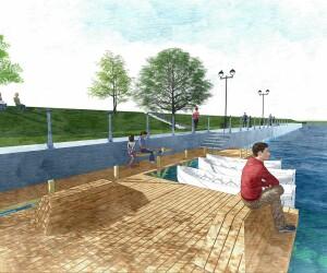 Un nou ponton, insule plutitoare si cinema in aer liber pe malul Somesului