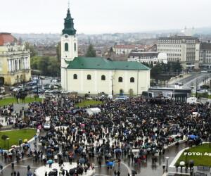 miting in Oradea