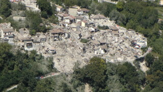 cutremur in Italia, foto din drona