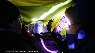 proteste piata victoriei ziua 13 Tricolor uman