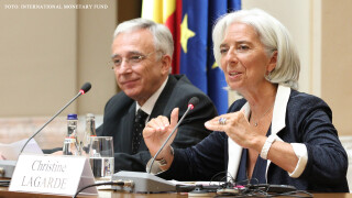Christine Lagarde si Mugur Isarescu
