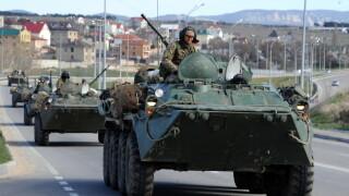 Tancuri rusesti in Crimeea