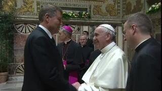 Klaus Iohannis si Papa Francisc