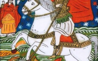 Icoană pe sticlă, Sfantul Gheorghe, Copyright: Muzeul Bran