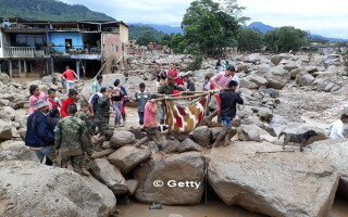 Columbia, Mocoa, alunecare de teren - 8