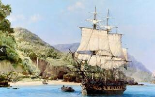 pictura, corabie de pirati