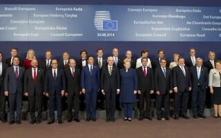 Traian Basescu la summitul de la Bruxelles