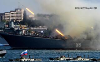 demonstratie a flotei rusesti din Sevastopol
