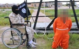 calau ISIS in scaun cu rotile