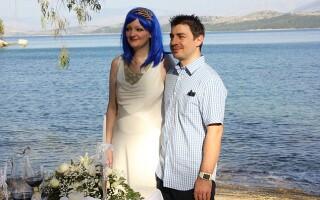 Gemma si Luke in Corfu