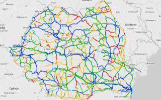 harta calitatii drumurilor