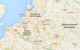 harta Europa Belgia