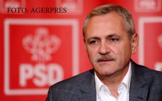 Presedintele PSD, Liviu Dragnea, sustine o conferinta de presa la finalul sedintei Comitetului National Executiv al PSD, la Piatra Neamt