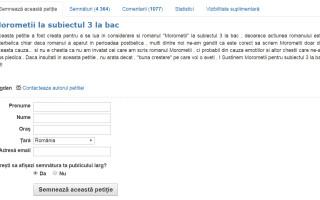 petitie online morometii