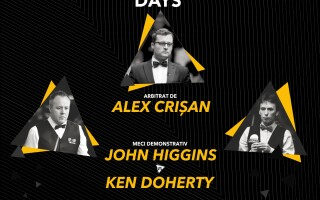 Campionii mondiali John Higgins si Ken Doherty versus jucatori romani. Spectacol de snooker la Cluj