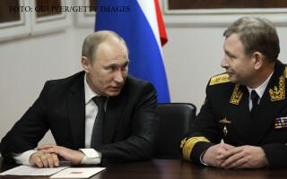 Vladimir Putin si Viktor Sirkov, seful flotei ruse