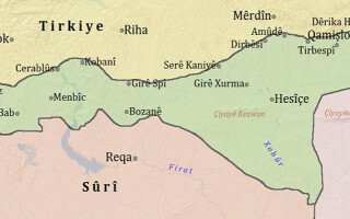 harta kurdistanului sirian